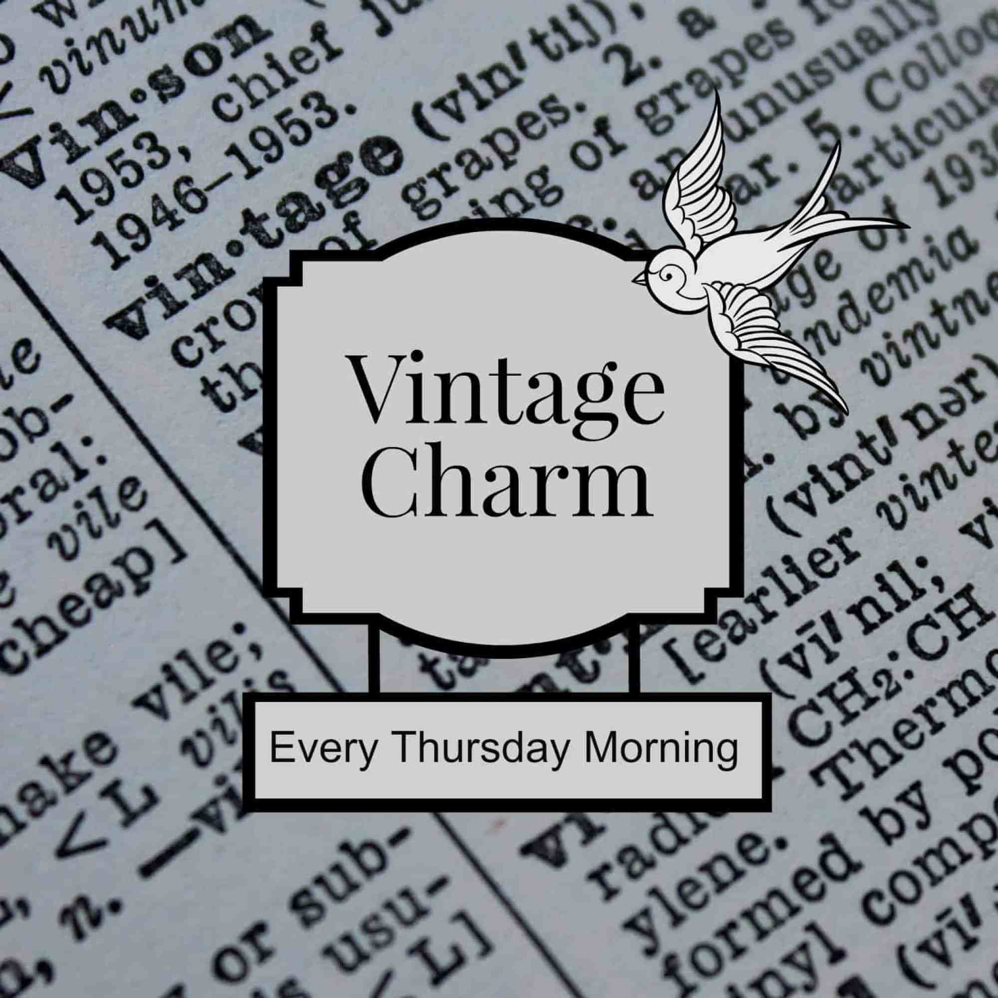 Vintage Charm link party grab button