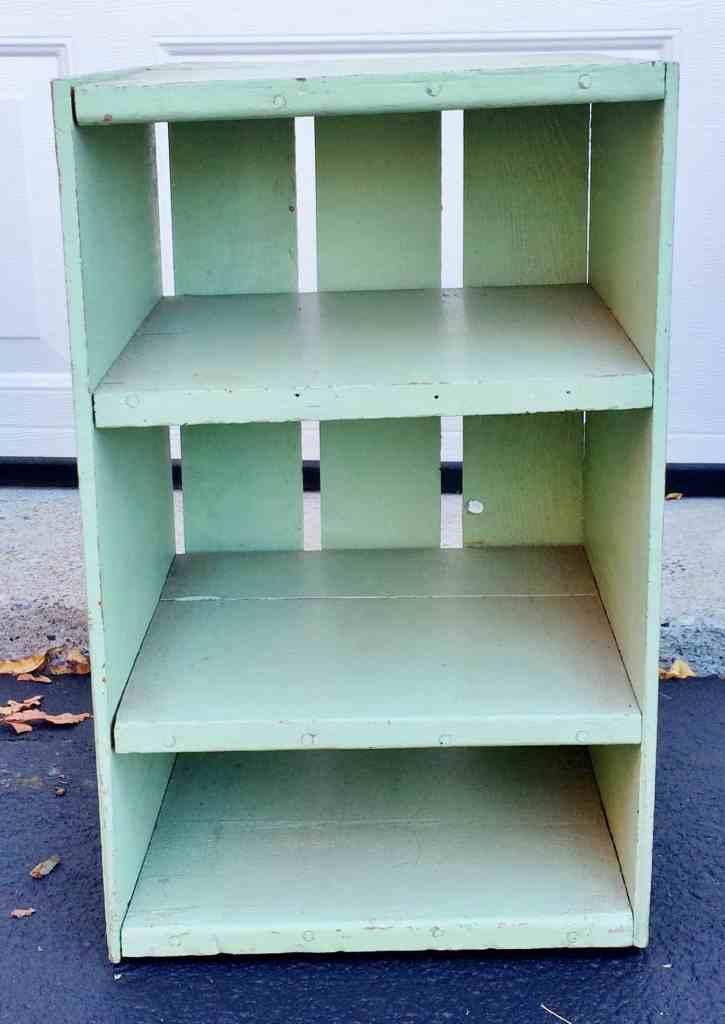 Vintage pale green shelf