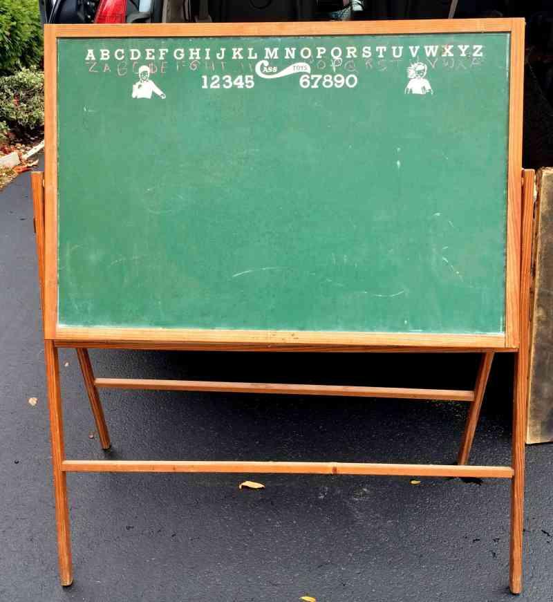 vintage toy chalkboard