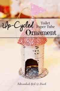 Upcycled Bird House Christmas Ornament