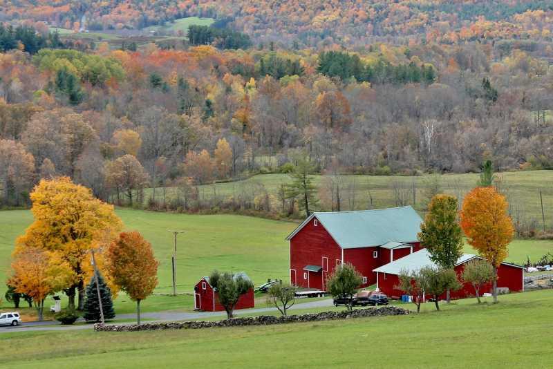 Red Barn in the Helderbergs Adirondack Girl @ Heart