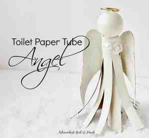 How to Make a Toilet Paper Tube Angel Ornament