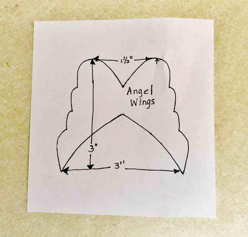 angel ornament wing pattern