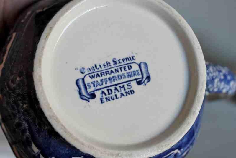 Mark on Adams England transferware jug