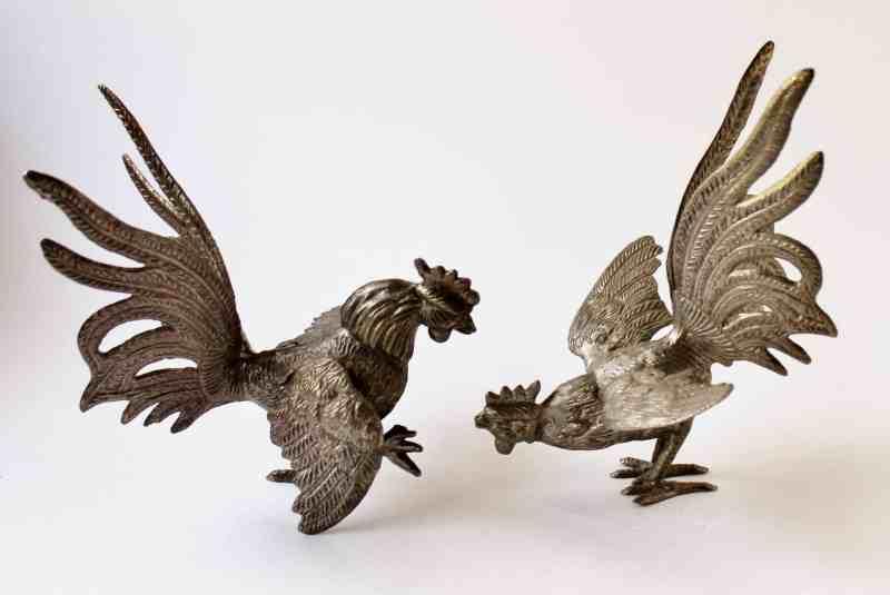 metal fighting cocks