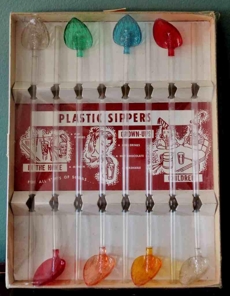 Vintage straws mint in box