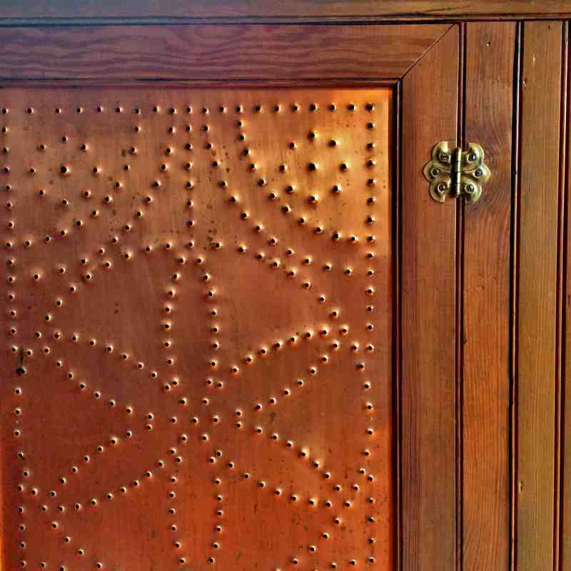 Punched Copper Door