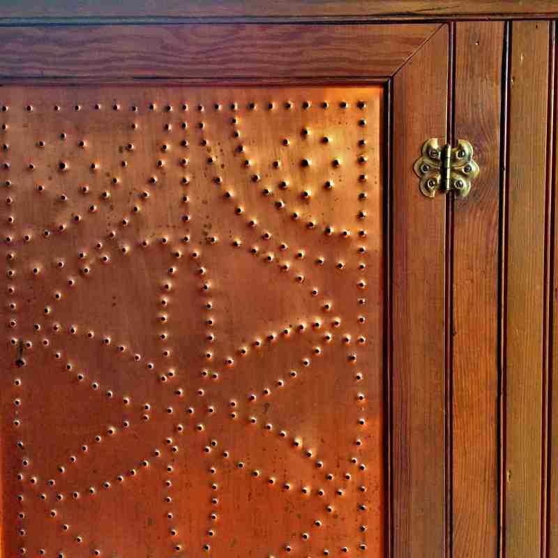 Punched Copper Door