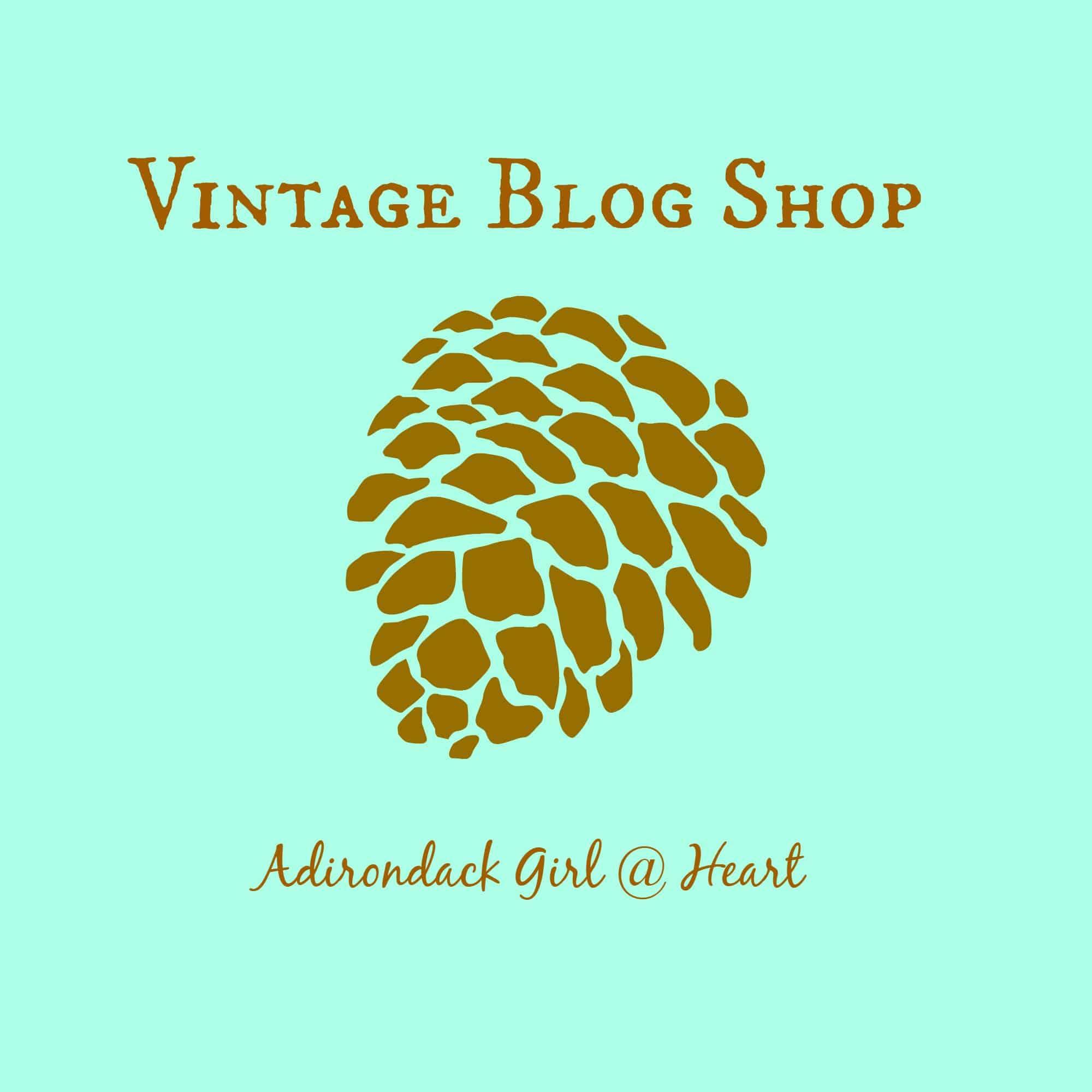 Vintage Blog Shop button
