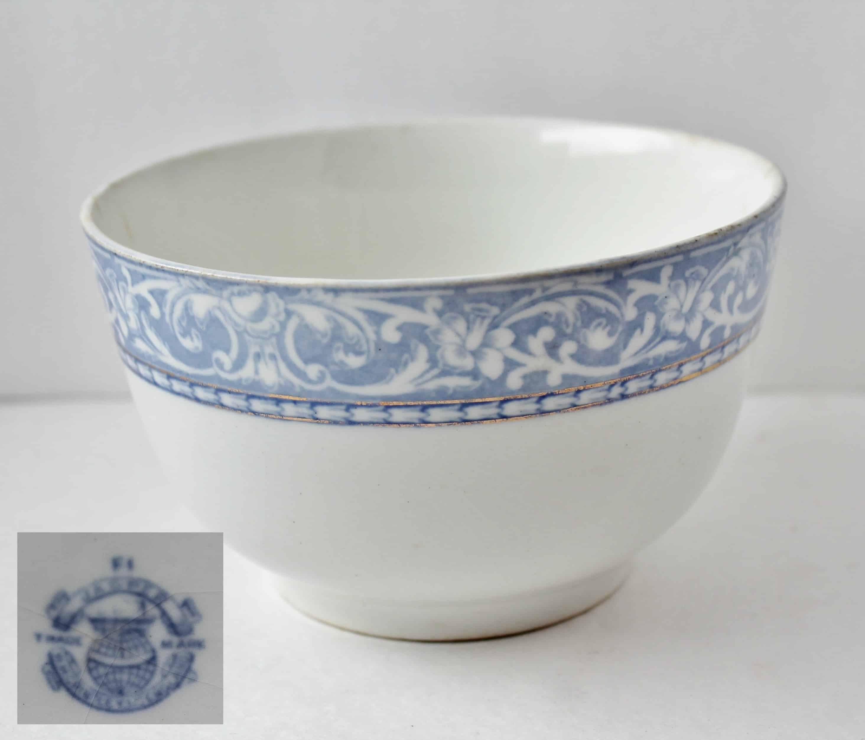 5.5 inch Grindley Transferware bowl Jasper pattern with inset mark
