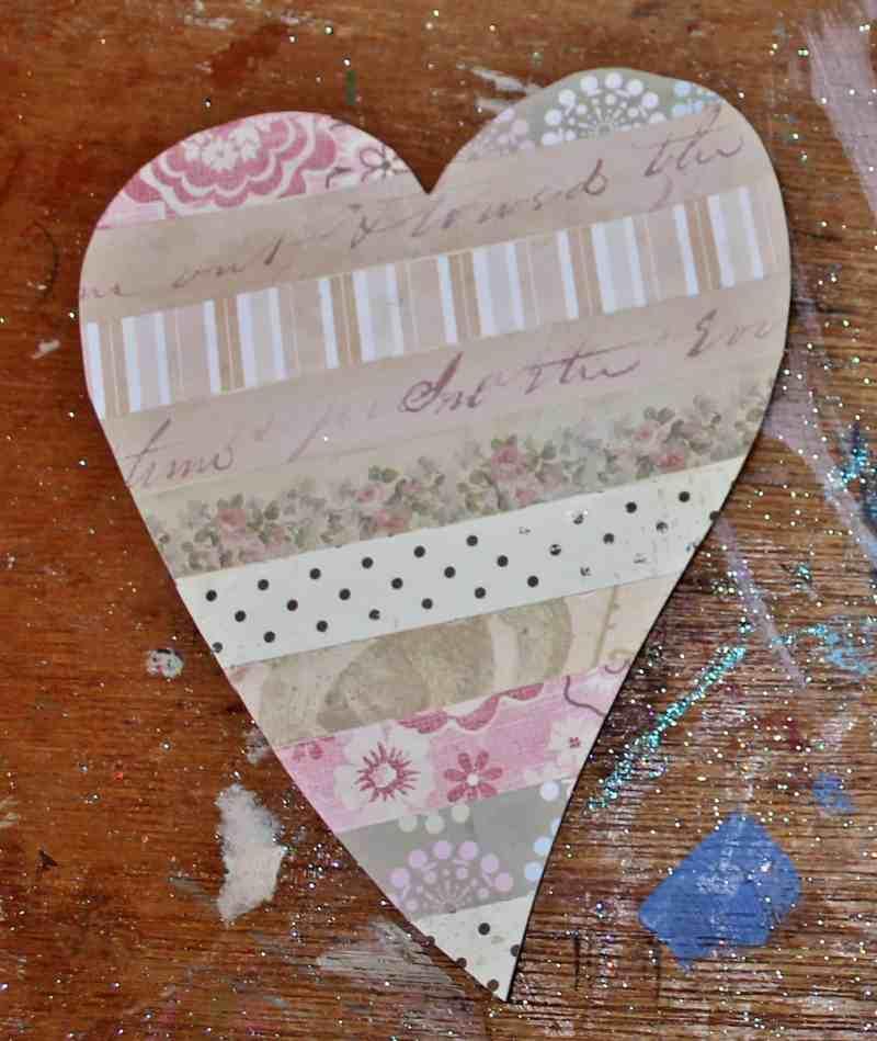 Scrapbook paper heart