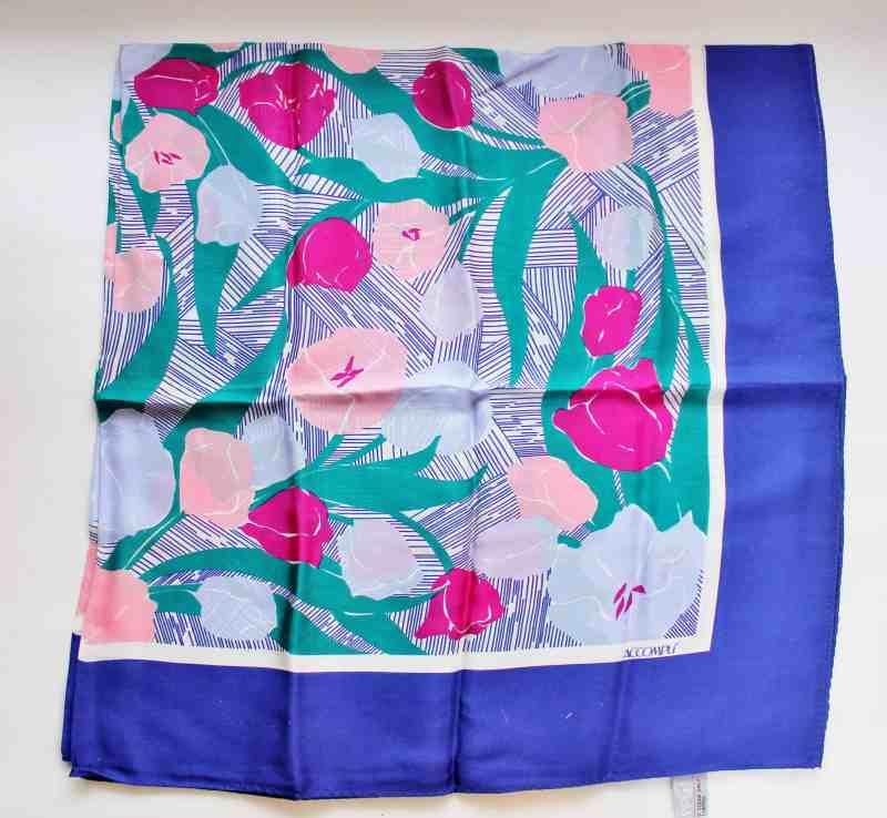 Vintage Accompli Silk Scarf