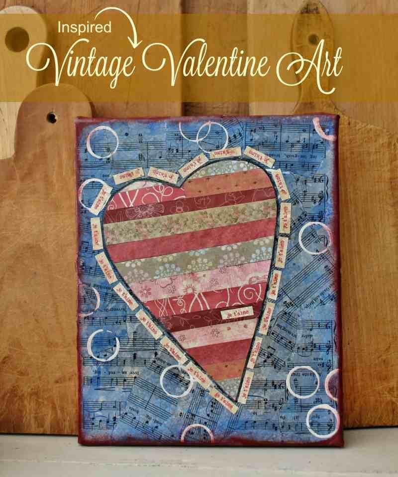 Vintage Inspired Valentine Art