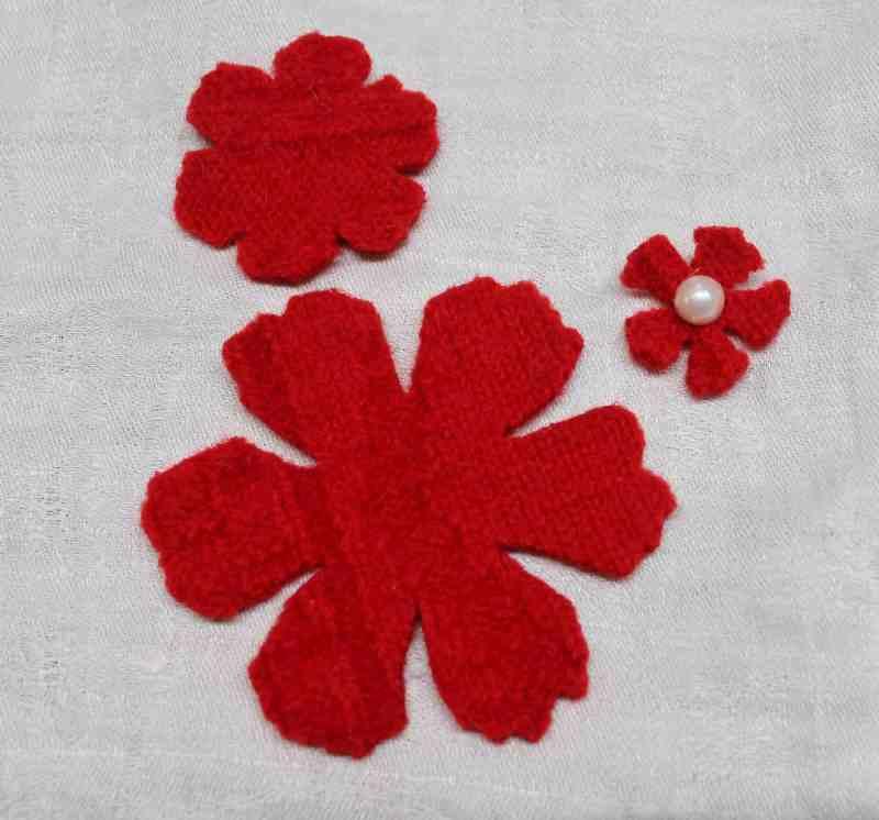 die cut wool sweat flowers