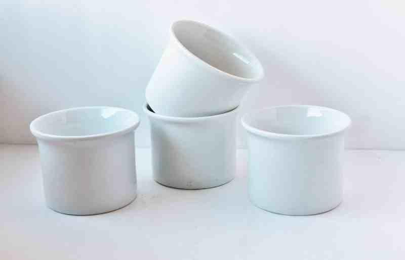 Vintage White Restaurantware Cups