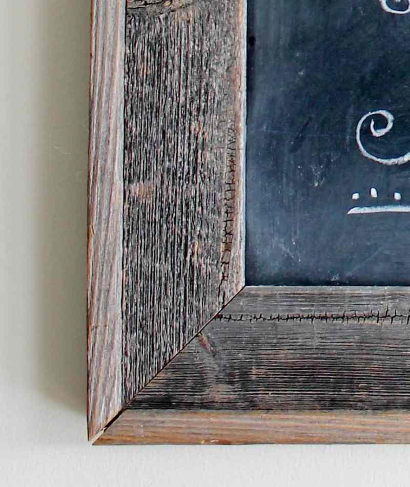 Close-up of Chalkboard Frame