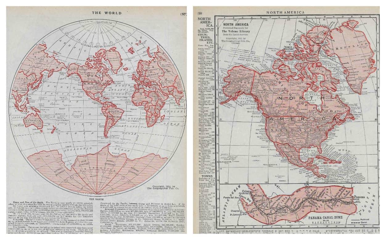 Globe and North America
