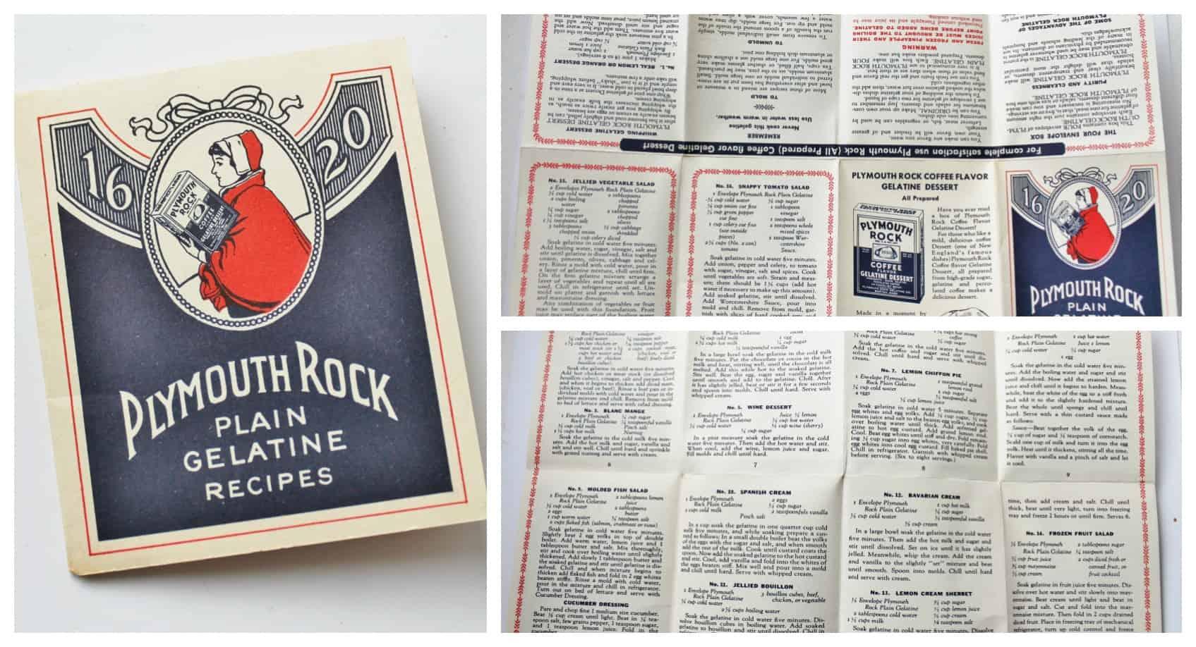 Plymouth Rock Gelatine Recipe booklet