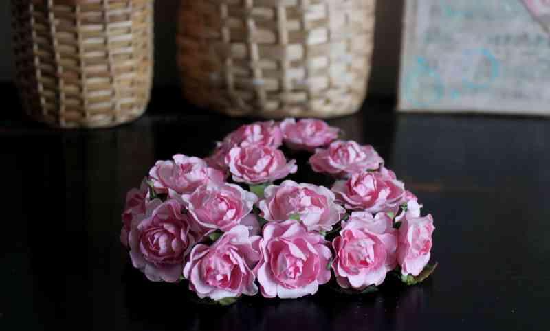 Rose Heart on Black Dresser