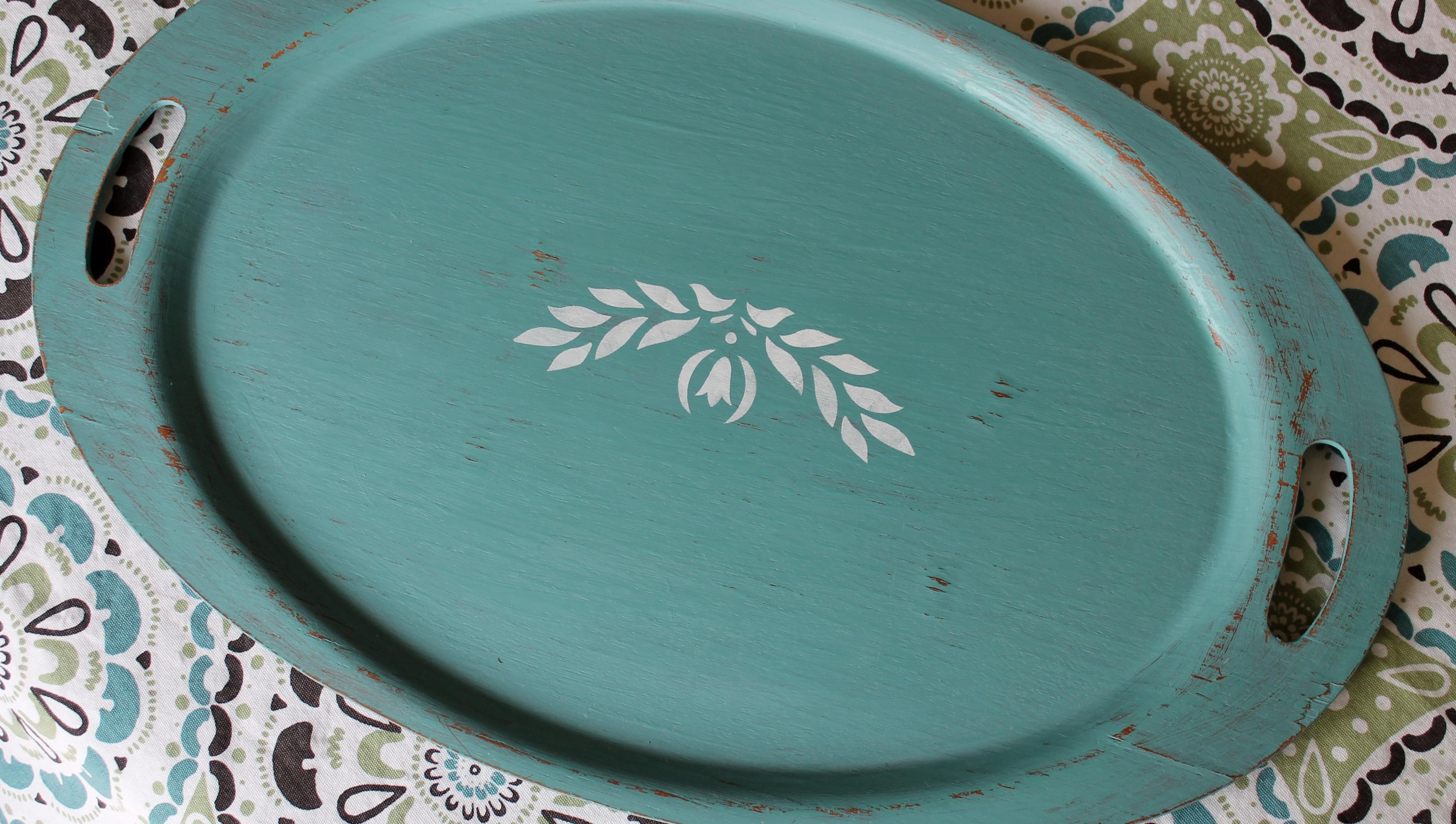 Robin's Egg Blue Vintage Tray