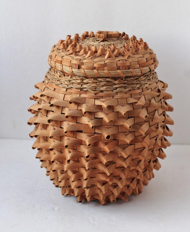 American Indian Ash Splint Souvenir Basket Ash