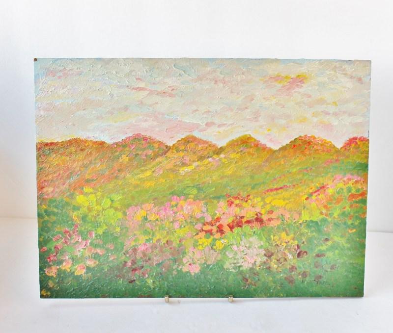 vintage impressionistic landscape painting