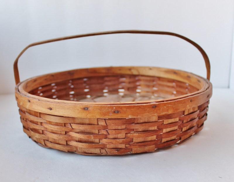 vintage oak splint pie carrier (2)