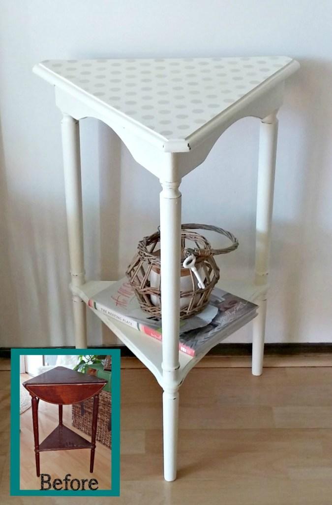 white table at Little Vintage Cottage