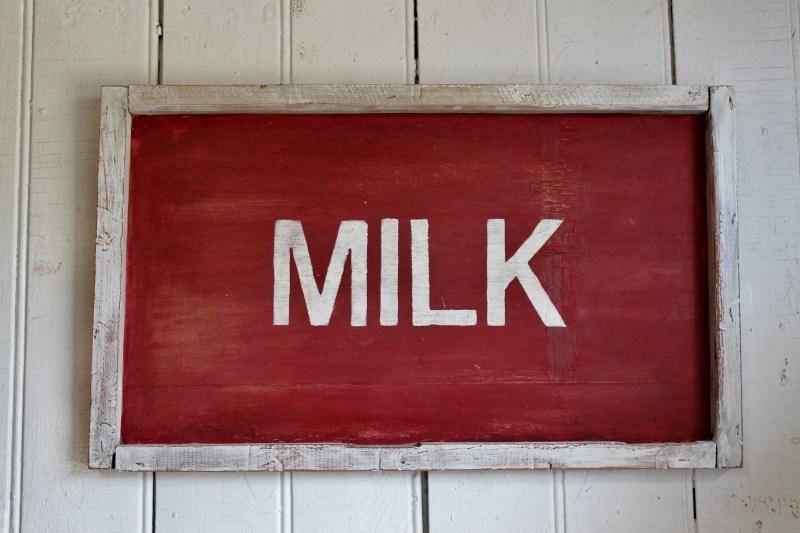 Vintage Farmhouse Milk Sign