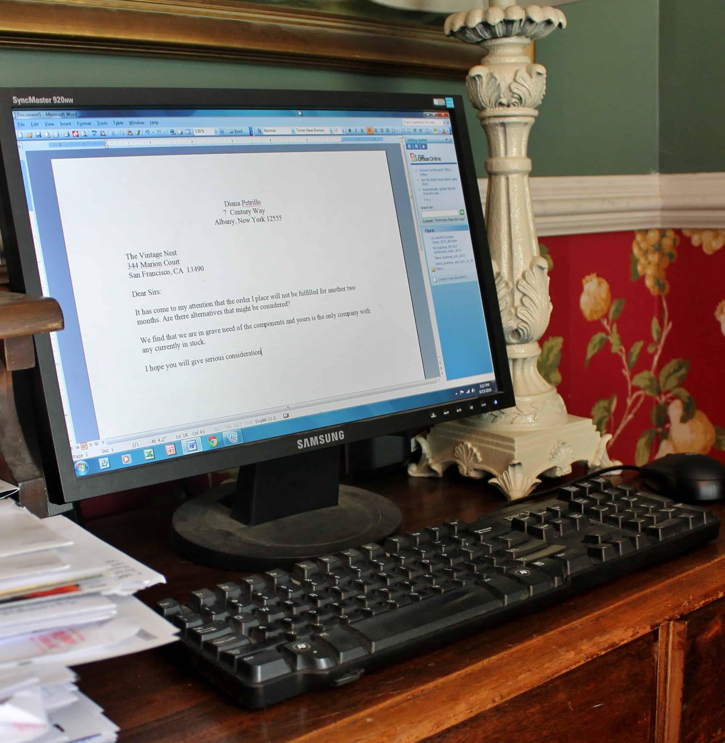 PC on desk