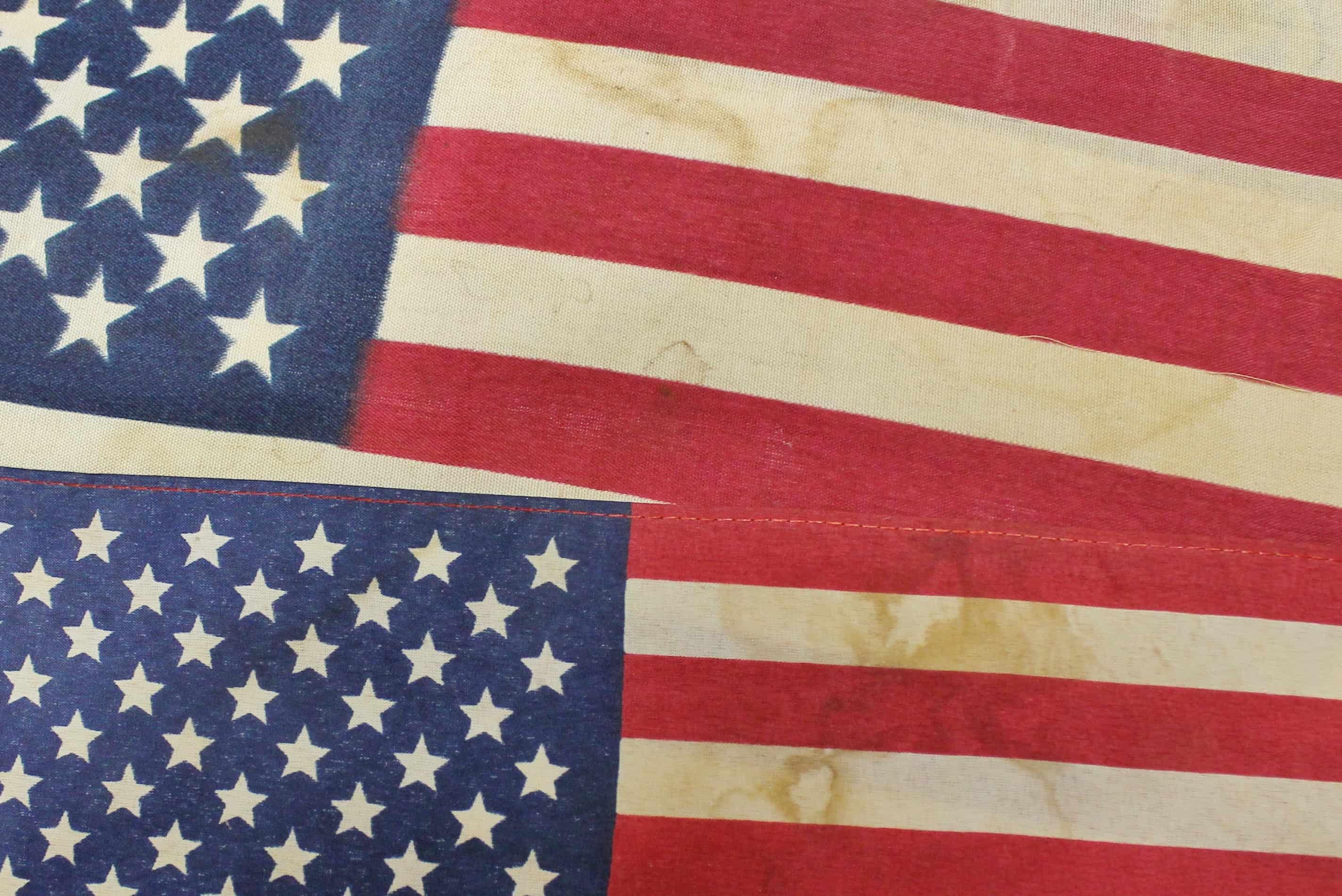 Closeup of Tea Dyed Flags