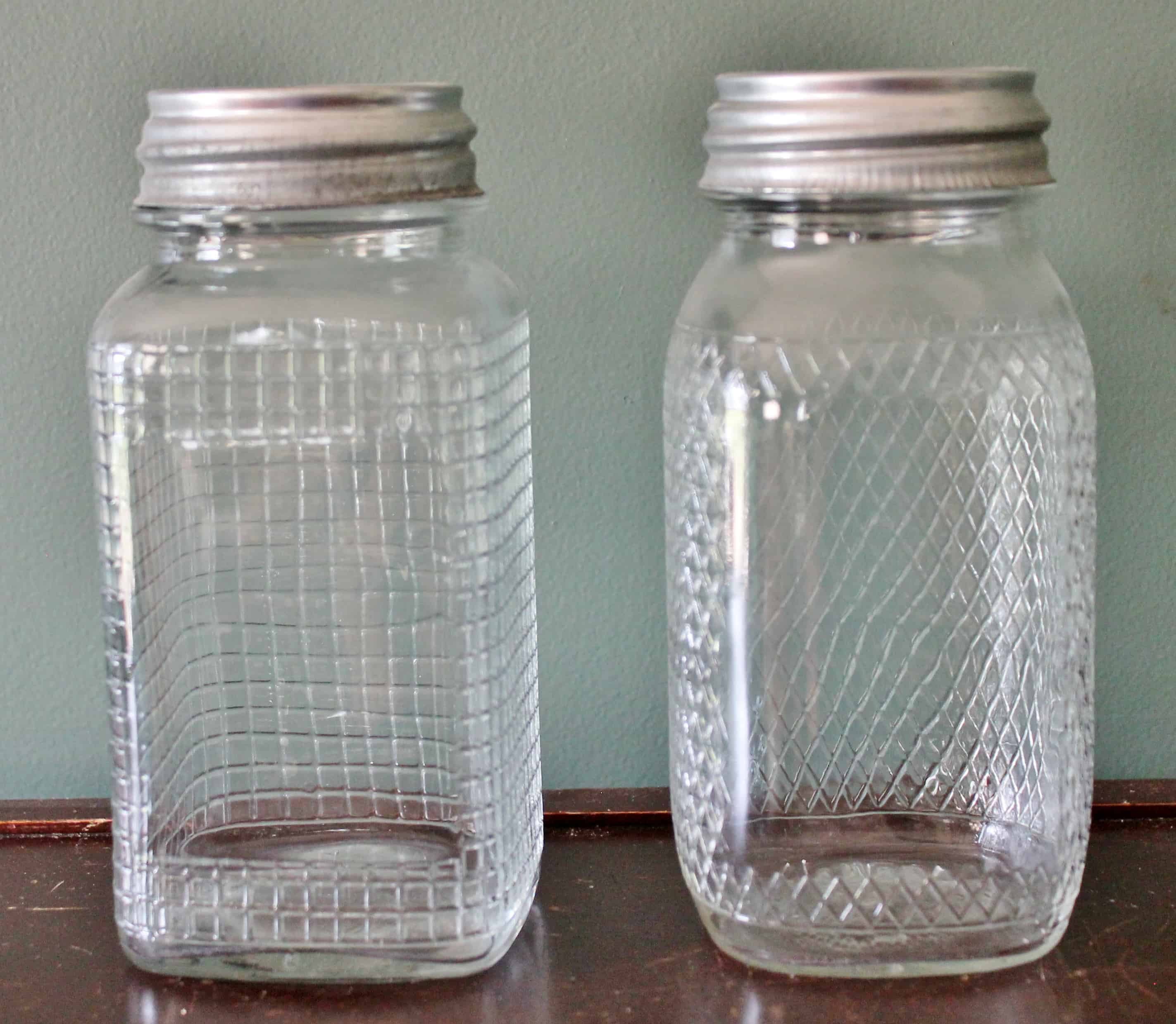 vintage clear glass canning jars