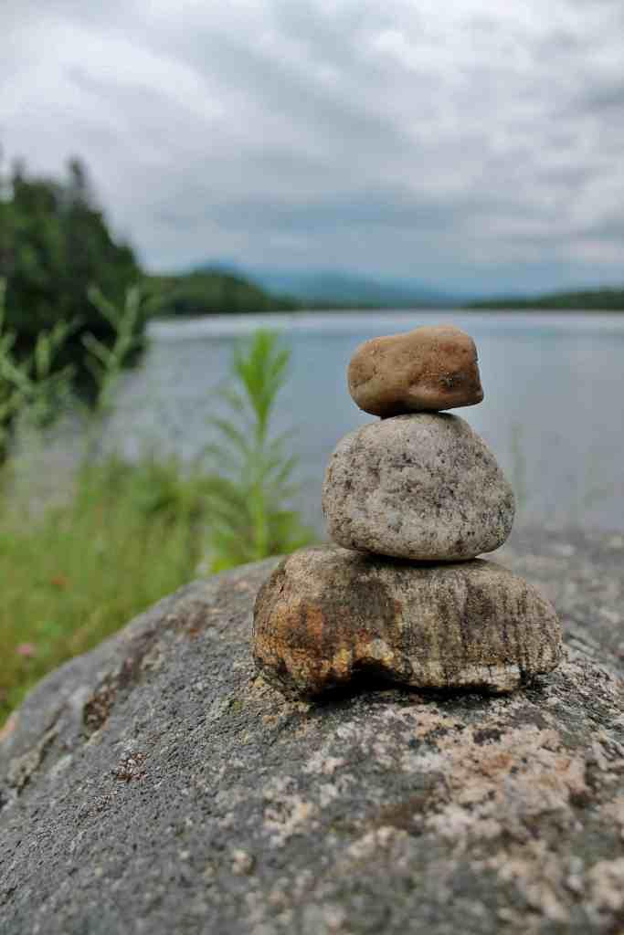 Franklin Falls Pond with rocks (1)