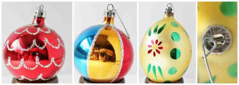 Vintage Poland Christmas Bulbs collage