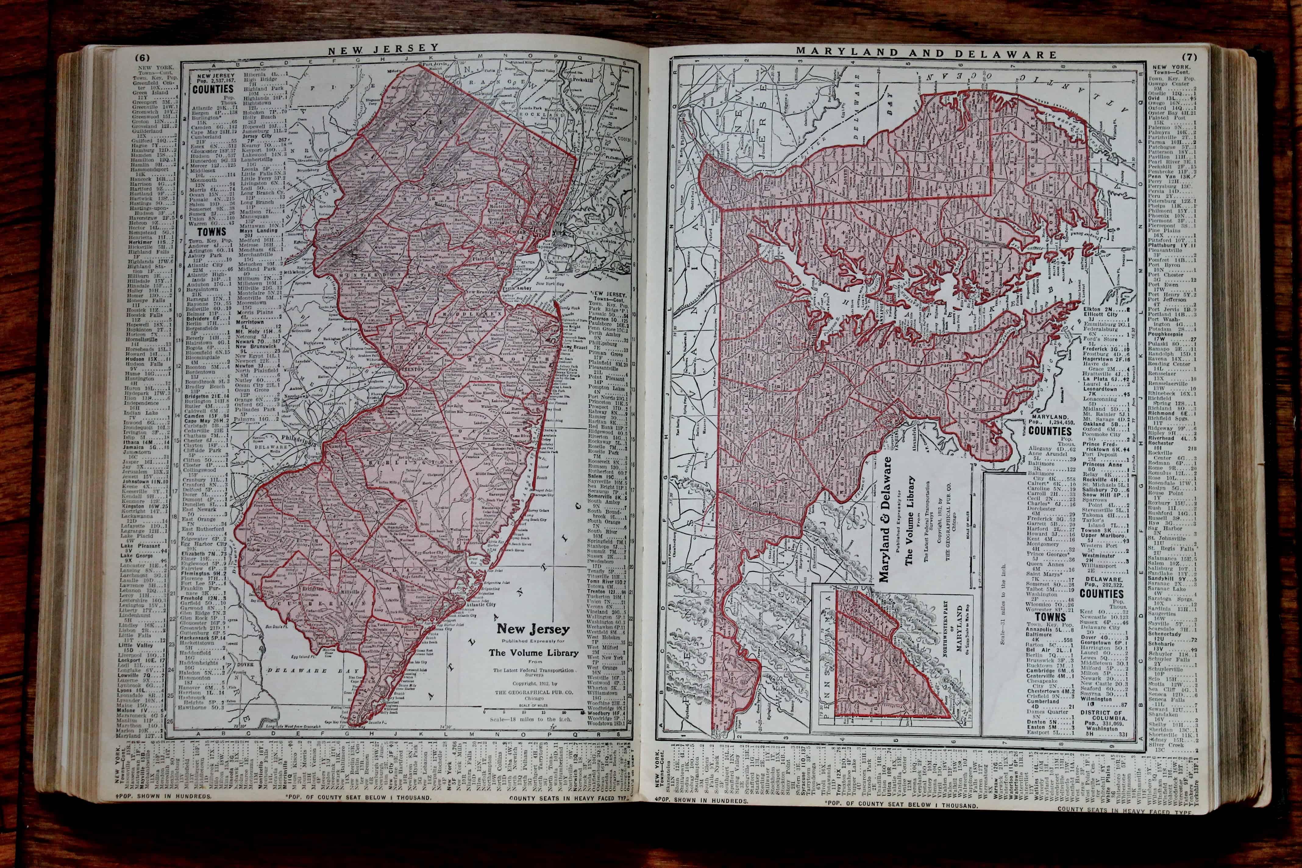 Antique Atlas pages California