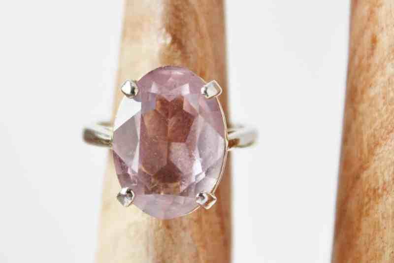 Vintage lavender crystal cocktail ring