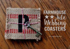 Farmhouse Jute Webbing Coasters