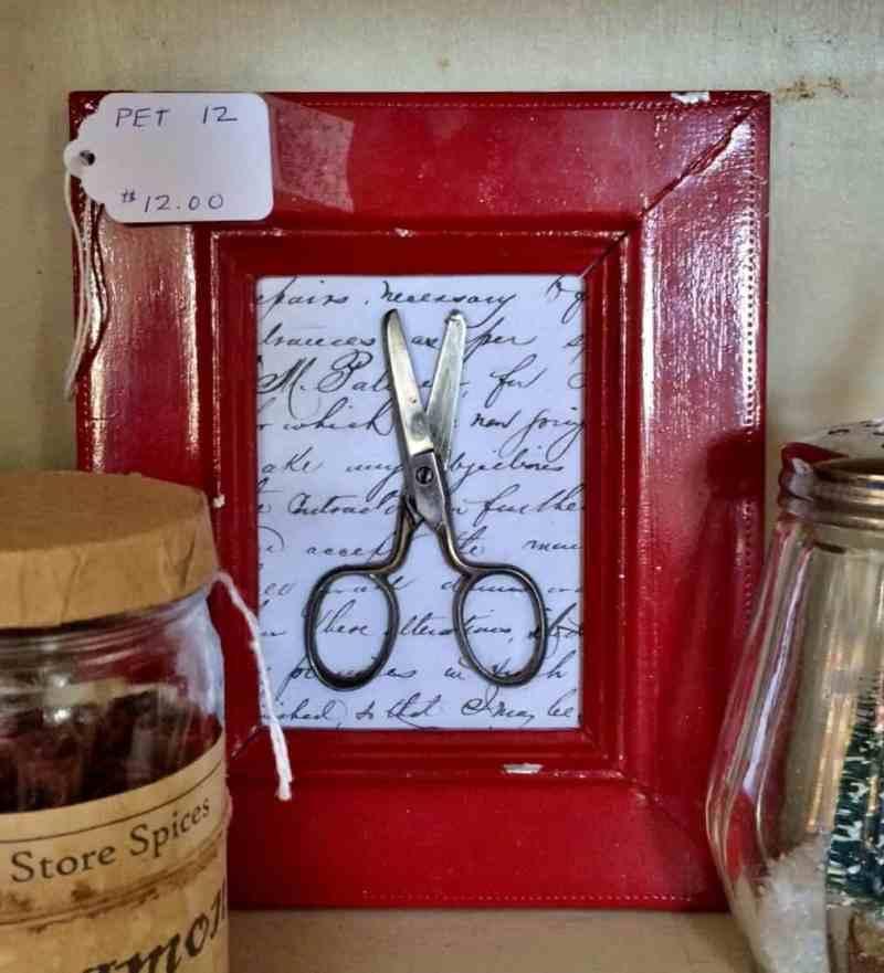 vintage framed scissors