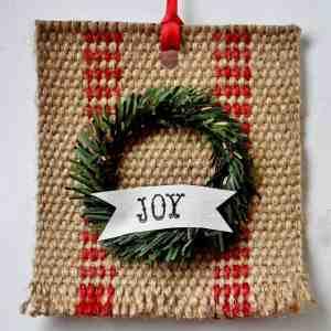 Vintage-y Farmhouse Jute Christmas Ornament