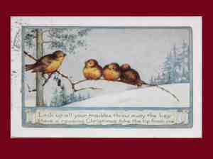 This Week's Vintage Finds #156: Christmas Post Cards & Free Printables