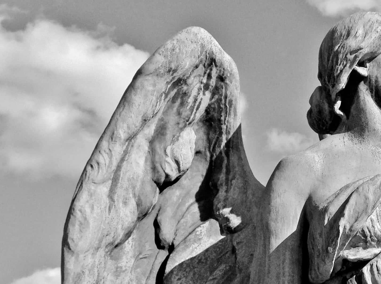 B & W Angel Statue