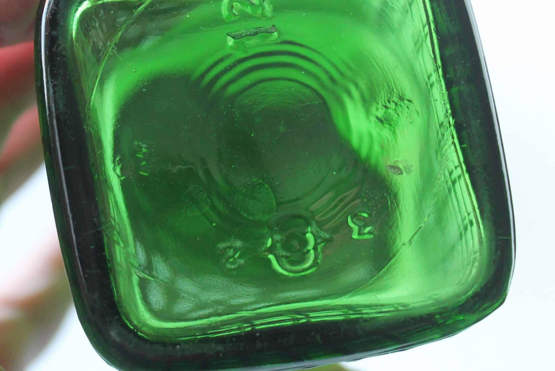 bottom of antique green salt shaker