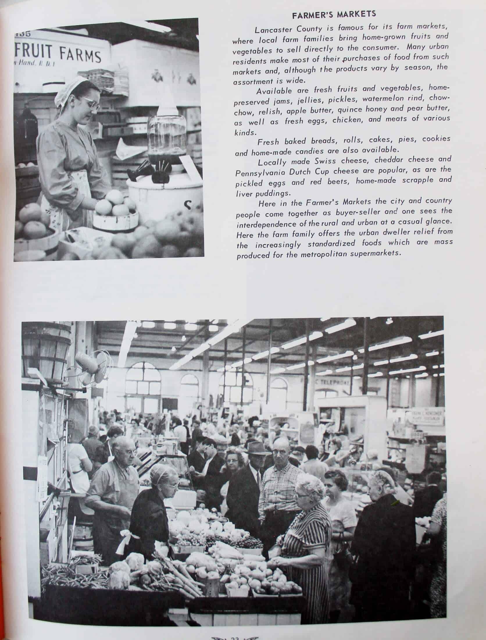 inside vintage lancaster county cookbook