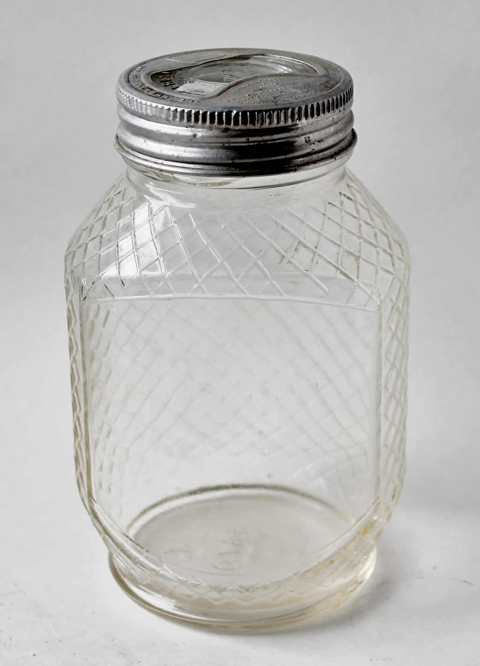 Vintage Hazel Atlas Brand Clear glass canning jar