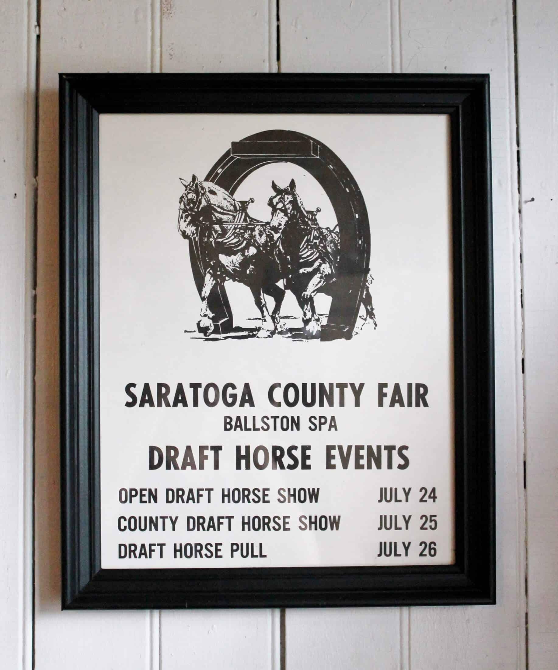 Saratoga county fair poster framed