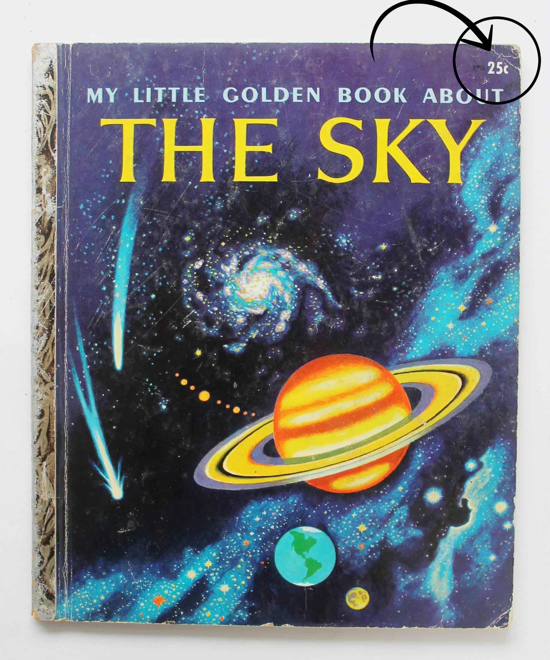 vintage little golden book the sky