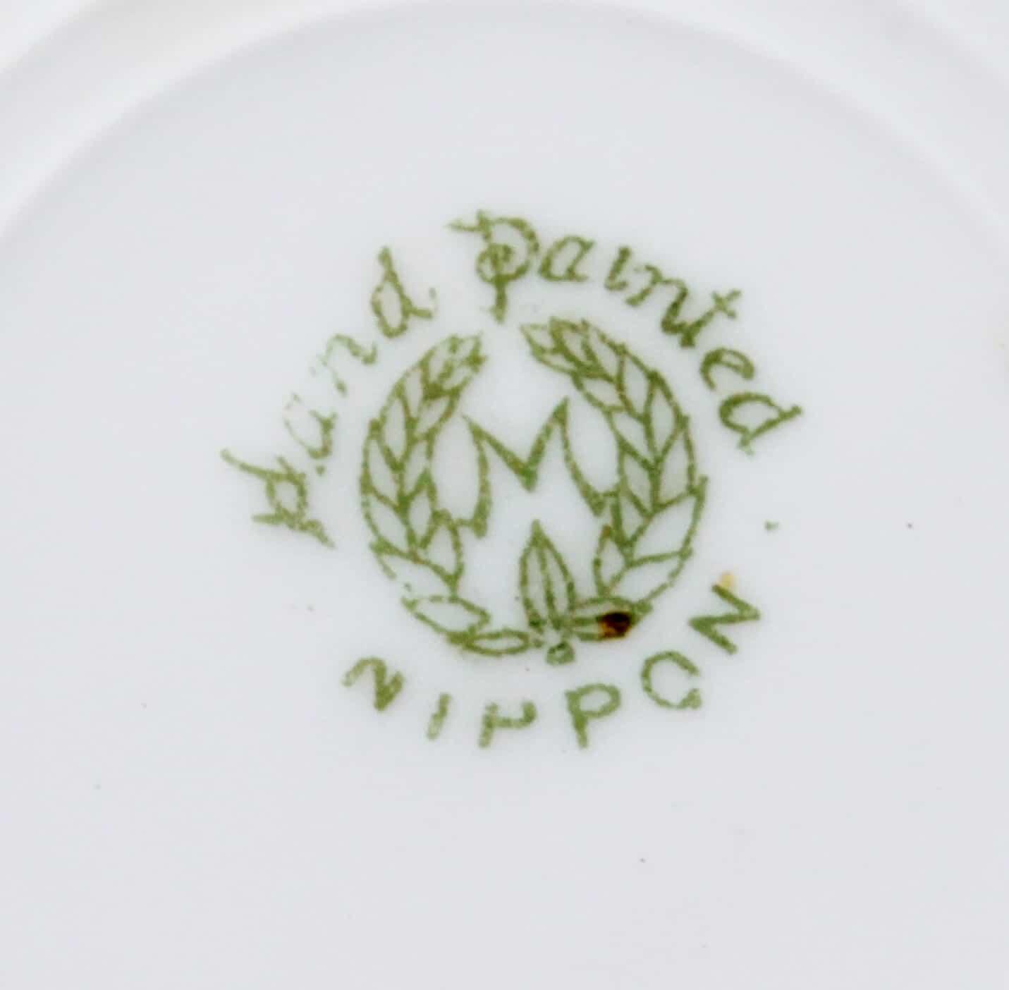 """Noritake """"M"""" in wreath Nippon mark"""