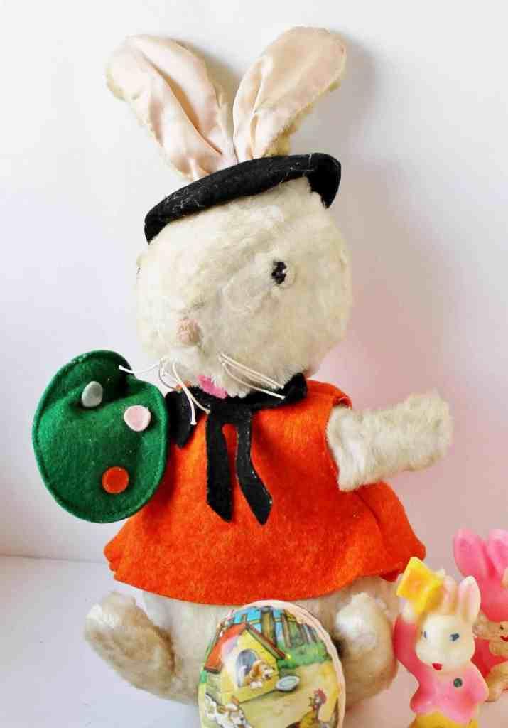 vintage stuffed painter rabbit