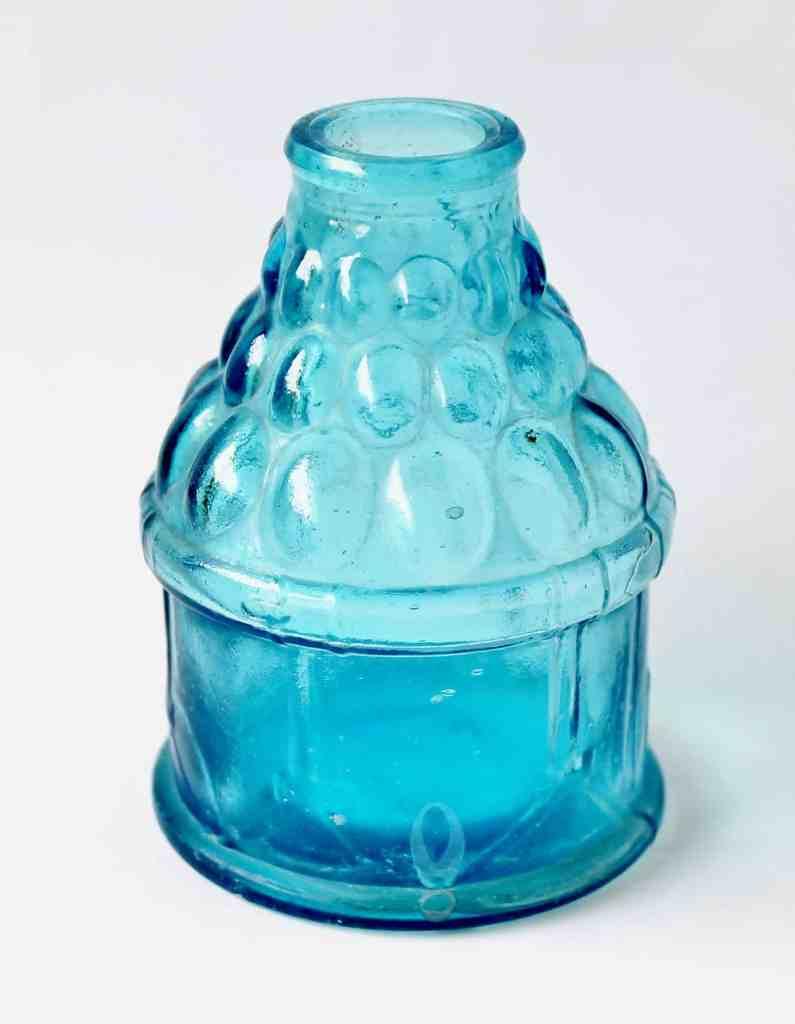 Blue Glass Wheaton Jar