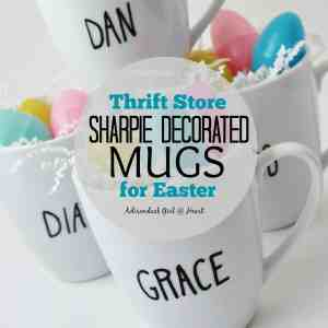 Thrift Store, Sharpie Decorated Mugs for Easter
